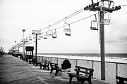 Benches Photos - Boardwalk Ride by John Rizzuto