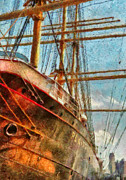 Seaport Photo Posters - Boat - NY - South Street Seaport - Peking Poster by Mike Savad