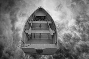 Mysterious Digital Art - Boat and Clouds by Dave Gordon