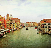 City Venice Italy Framed Prints - Boat And Houses In Canal Framed Print by Fly away with your imagination