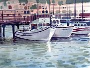 Fishing Boats Originals - Boat at Fishermans Wharf by Donald Maier