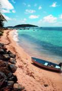 Boat Beach Vieques Print by Thomas R Fletcher