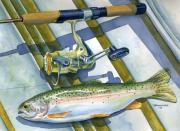 Sporting Art Photo Prints - Boat Bottom Trout Print by Mark Jennings