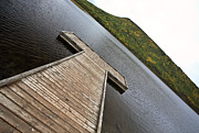 Alberta Landscape Prints - Boat dock at Musreau Lake  Print by Mark Duffy