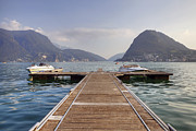 Dock Photos - Boat dock on Lake Lugano by Joana Kruse