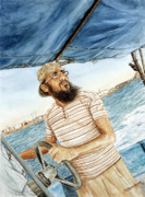 Middle East Painting Originals - Boat driver by Sethu Madhavan