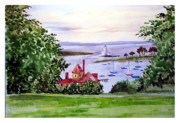 Hall Drawings Framed Prints - Boat House at Condree Hall Framed Print by Siona Koubek