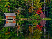 Mt Chocorua Posters - Boat House Lake Chocorua Poster by Scott Moore