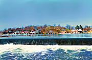 Boathouse Row Prints - Boat House Row from Fairmount Dam Print by Bill Cannon