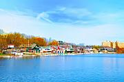 Boathouse Row Prints - Boat House Row from West River Drive Print by Bill Cannon