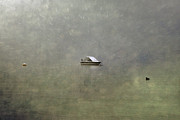 Boat In The Snow Print by Joana Kruse