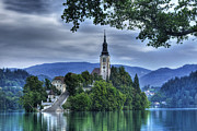 Bled Prints - Boat Landing Print by Don Wolf