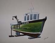 Trawler Metal Prints - Boat LH 128 Metal Print by James McCreadie