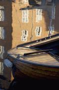 Wooden Ship Posters - Boat Moored At Christianshavns Poster by Axiom Photographic