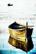 Fine_art Metal Prints - Boat Metal Print by Okan YILMAZ