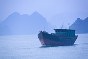 John Buffington - Boat on Halong Bay
