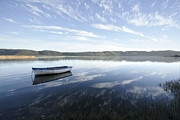 Boat On Knysna Lagoon Print by Neil Overy