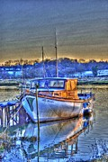 Hdr Art - Boat on the River Colne in Wivenhoe by Jane James