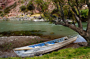 Jason Neely Acrylic Prints - Boat on Urubamba River - Peru Acrylic Print by Jason Neely
