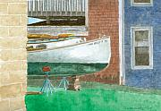 Genre Paintings - Boat out of Water - Portland Maine by Dominic White
