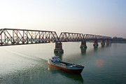 Built Structure Photos - Boat Passing From Under Bridge by Manzur Anam Photography
