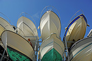 Boathouse Row Photos - Boat rack by Sami Sarkis