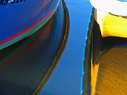 Dinghy Photos - Boat Reflection by Juergen Roth