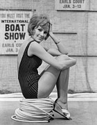 Fashion Model Photography Posters - Boat Show Fashion Poster by Fox Photos