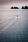 Wake Art - Boat Trail In Sea by photo by Aum