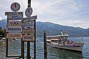 Mountain View Posters - Boat trip on Lake Maggiore Poster by Joana Kruse