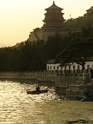 Historical Housing Prints - Boaters On Kunming Lake At The Summer Print by Richard Nowitz