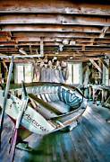 Woodworking Prints - Boathouse Print by Heather Applegate