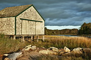 Salt Marsh Posters - Boathouse Poster by John Greim