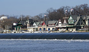 """schuylkill River""  Prints - Boathouse Row - Philadelphia Print by Brendan Reals"