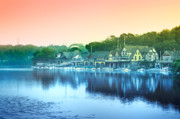 Boathouse Row Prints - Boathouse Row Print by Bill Cannon