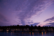 Boathouse Row In Twilight Print by Bill Cannon