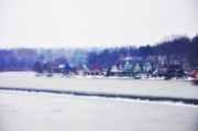 Philadelphia Photo Prints - Boathouse Row In Winter Print by Bill Cannon