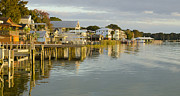 Boathouses Photos - Boathouse Row Mount Dora FL by Steve Williams