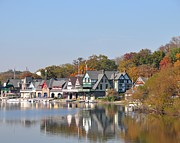 Boathouse Row Photos - Boathouse Row Philadelphia by Donna Harlev