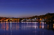 Boathouses Photos - Boathouse Row Philly by John Greim