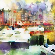 Impressionism Art - Boating in Honfleur by Susan Libby