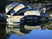 Water Reflections Photos - Boating Incident by Donna Blackhall