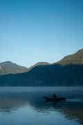 Boatman Framed Prints - Boatman Lake Atitlan Guatemala Framed Print by Douglas Barnett