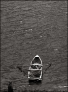 White River Scene Photo Originals - Boatman by Paul  Mealey