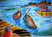Sonali Singh - Boats and a lady