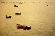 Arabian Sea Framed Prints - Boats At Arabian Sea Framed Print by Photograph by Jayati Saha