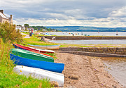 Sea Shore Framed Prints - Boats at Findhorn Framed Print by Tom Gowanlock