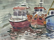 Fishing Boats Originals - Boats at Kilmore Quay by Donald Maier