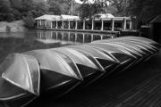 Central Park Prints - Boats at the Boat House Central Park Print by Christopher Kirby