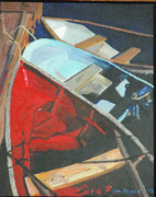 Boats At The Dock Posters - Boats At The Dock Poster by Jim Peirce